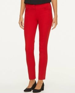 LOFT | Modern Skinny Ankle Pants/Holiday Red/6
